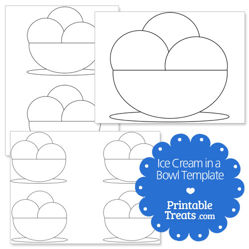 9 Images of Printable Ice Cream Bowl