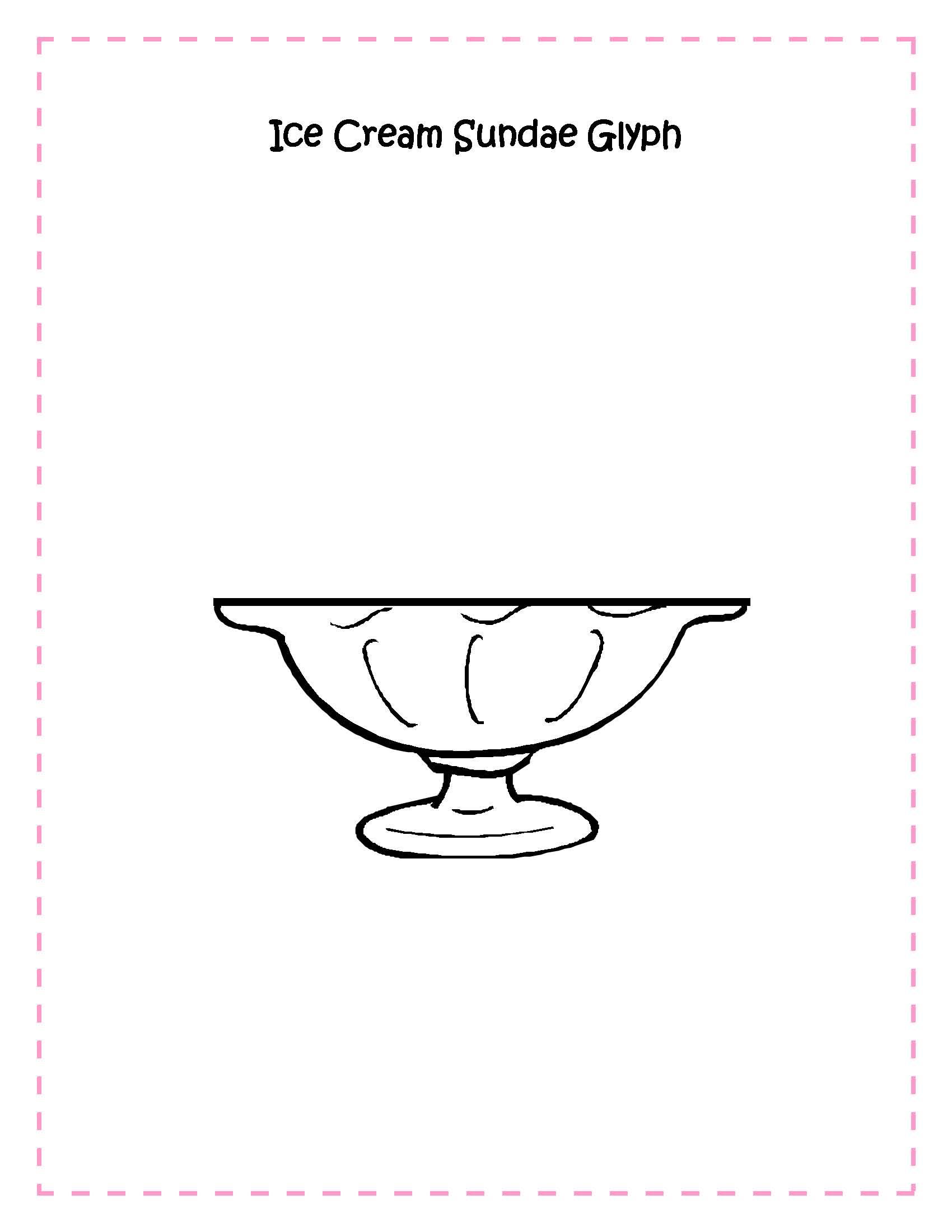5 Best Images of Ice Cream Sundae Patterns Printable - Ice ...