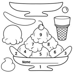 5 Images of Ice Cream Sundae Patterns Printable