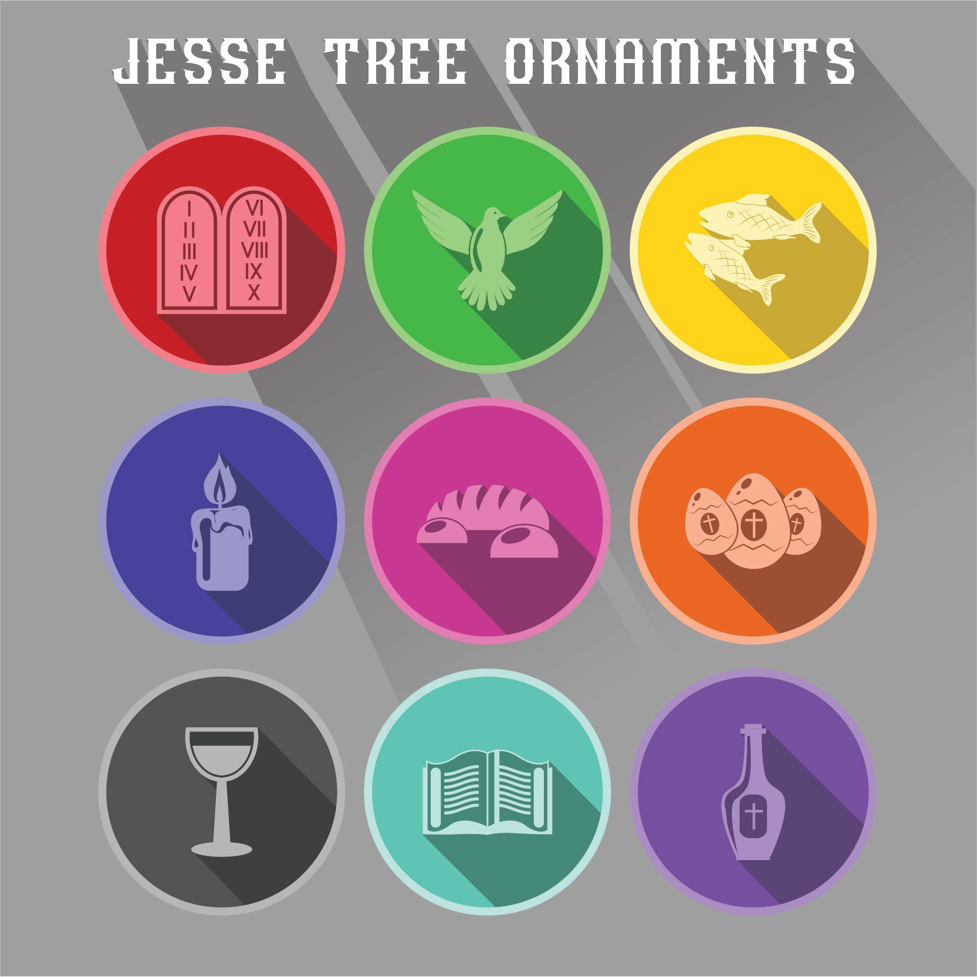 Jesse Tree Paper Ornaments