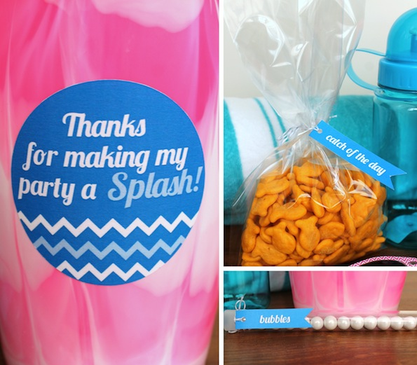 6 Images of Free Printable Pool Party Favors