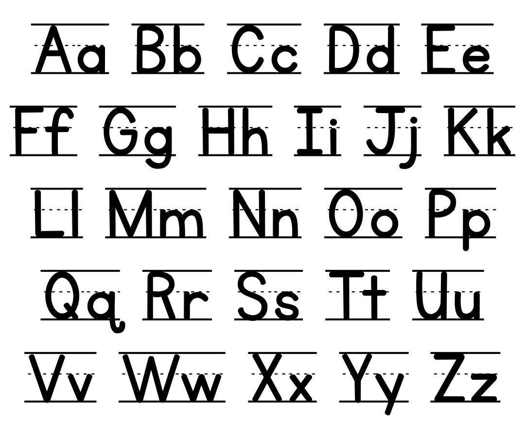 Manuscript Alphabet Chart