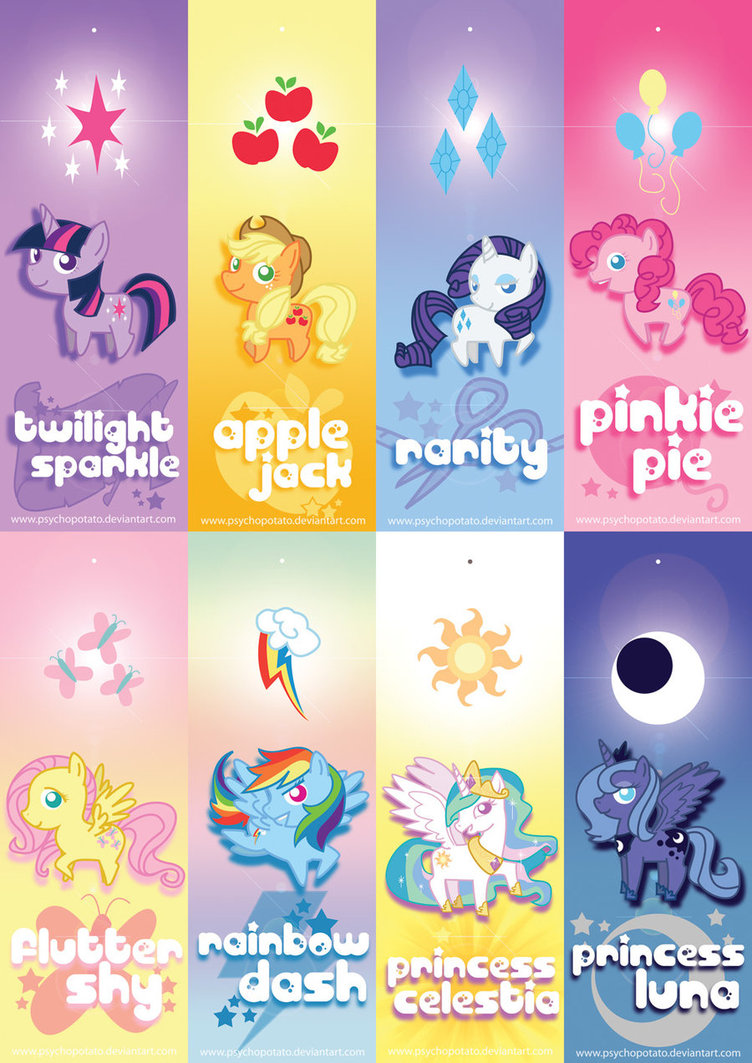 5 Images of My Little Pony Printable Bookmarks