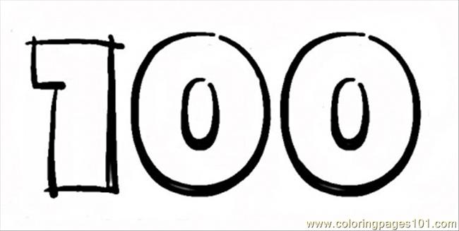 4 Images of Printable 100 Number Coloring Pages