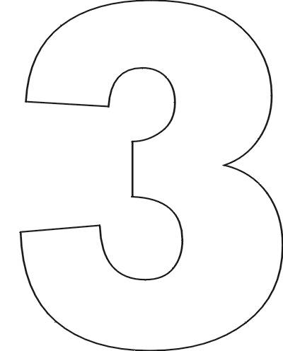 5 Images of Printable Number Three Template