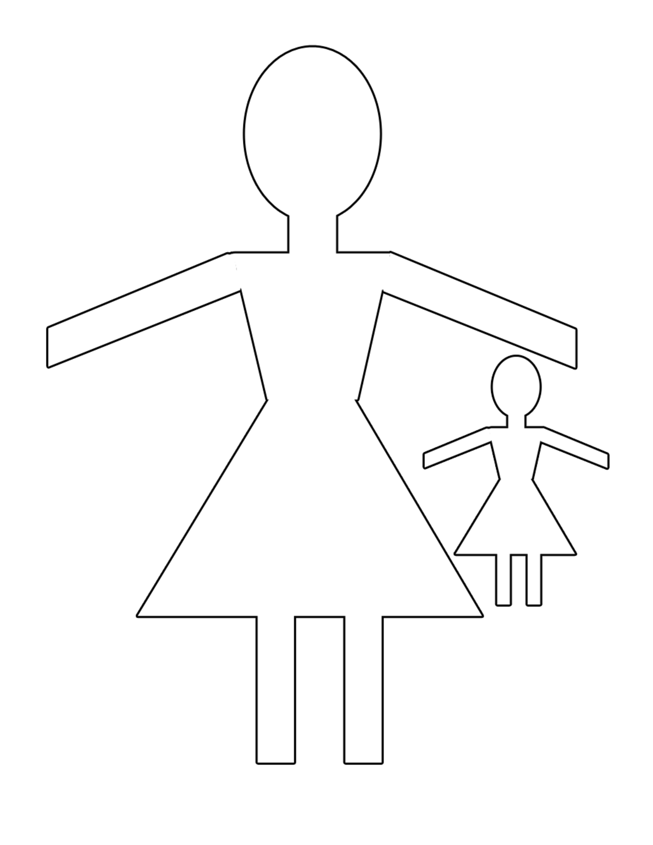 paper doll templates cut out 7 best images of printable paper doll templates