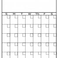 Plain Blank Calendar Printable