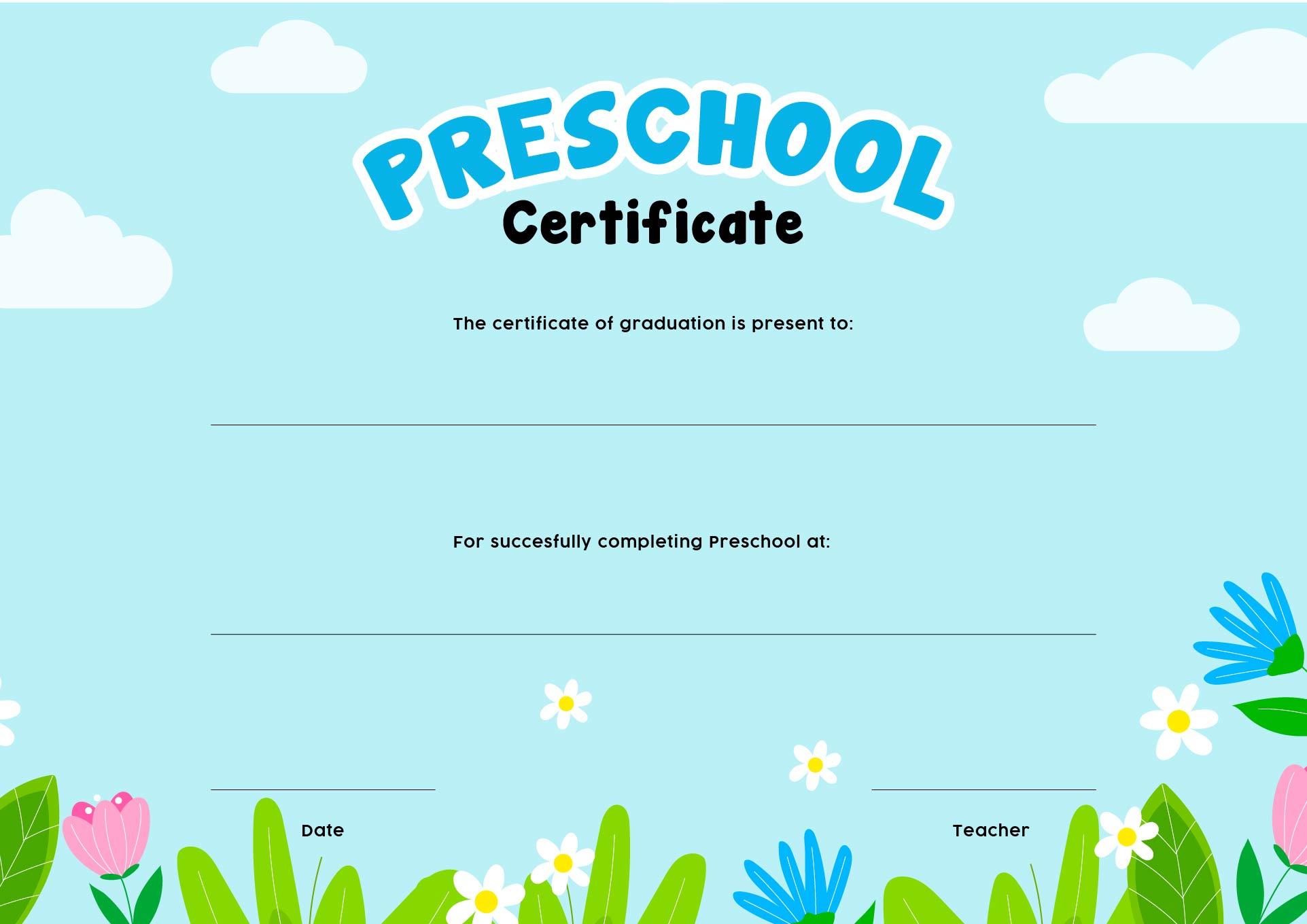 6 best images of free printable kindergarten graduation for Free graduation certificate template