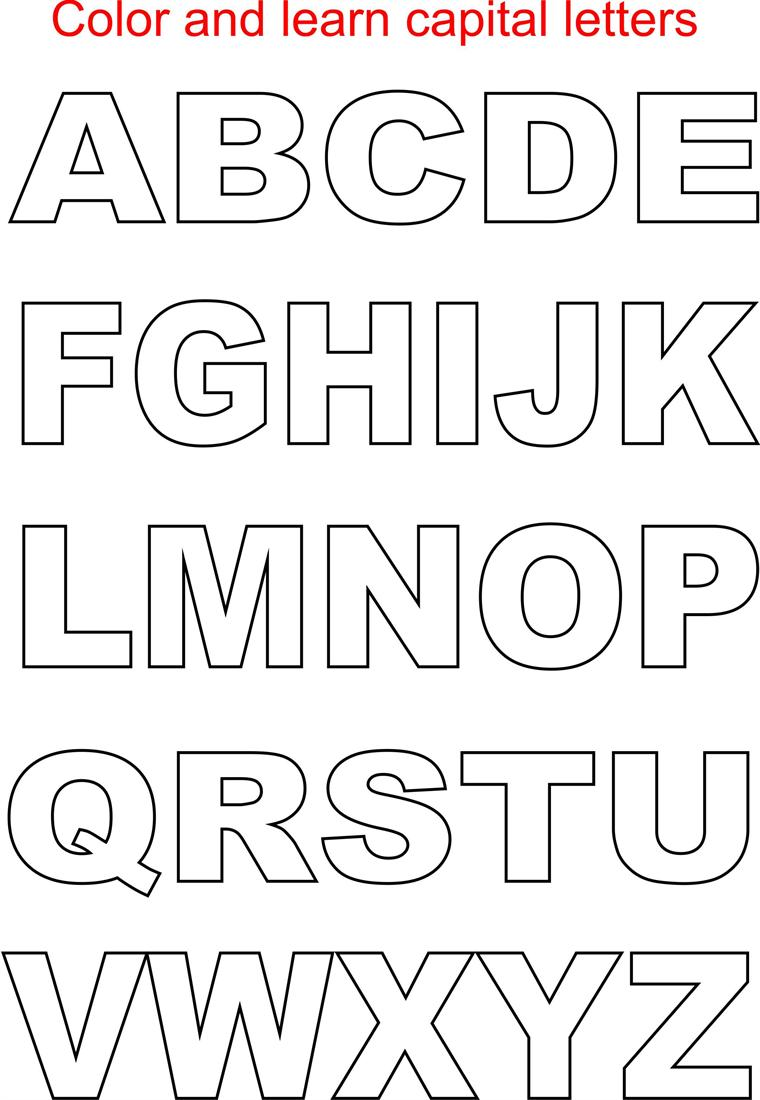 4 Images of Printable Alphabet Capital Letters