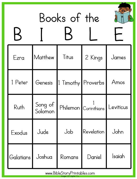 8 Images of Printable Bible Bingo Template