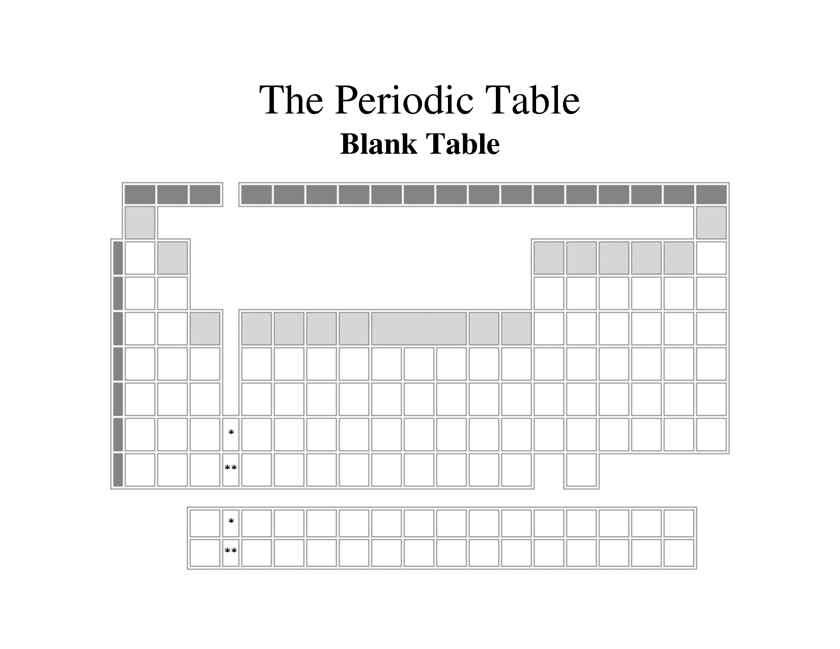 blank periodic table of elements worksheet free worksheets library download and print. Black Bedroom Furniture Sets. Home Design Ideas