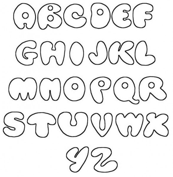 6 Images of Printable Bubble Letters Graffiti Alphabet