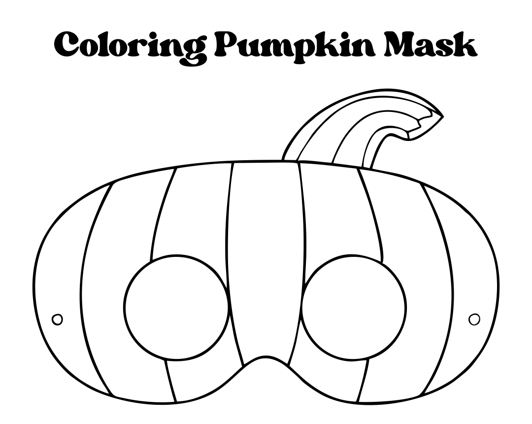 Printable Coloring Halloween Face Masks