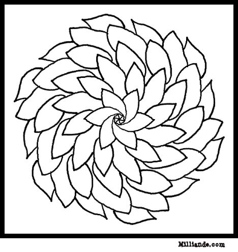 6 Images of Flower Art Coloring Pages Printable