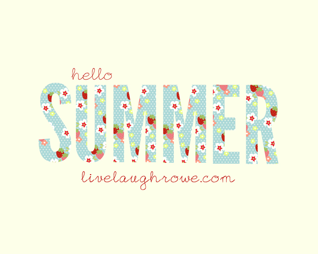 Printable Hello Summer