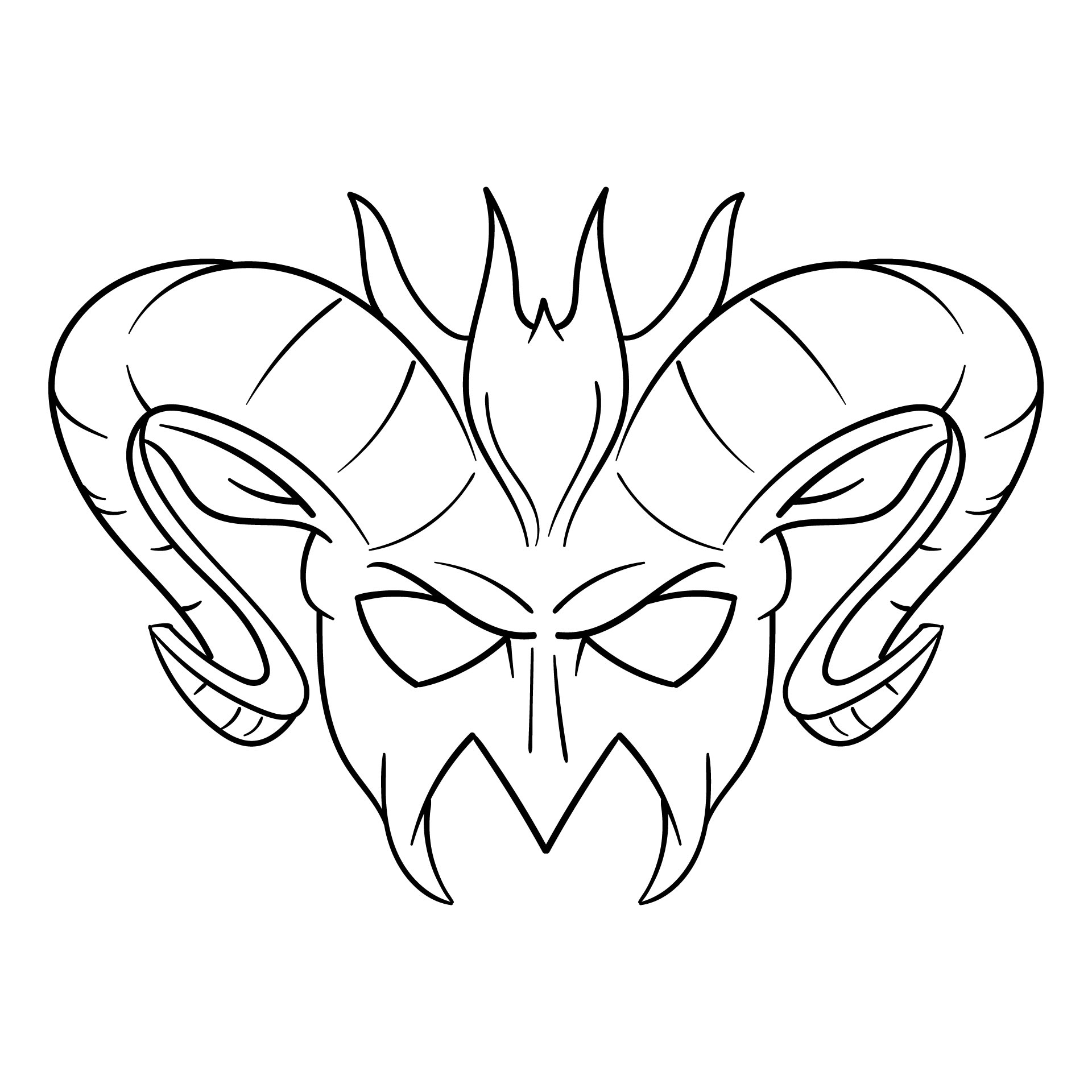 Printable Mask Coloring Pages