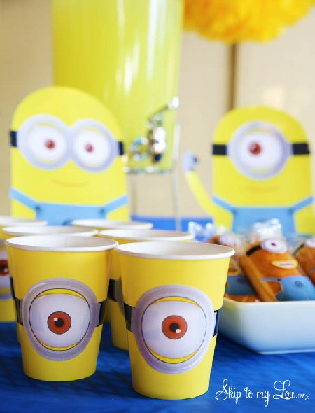 8 Images of Printable Minion Party Cup