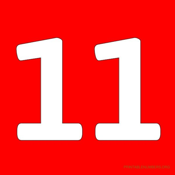 4 Images of Printable Number 11