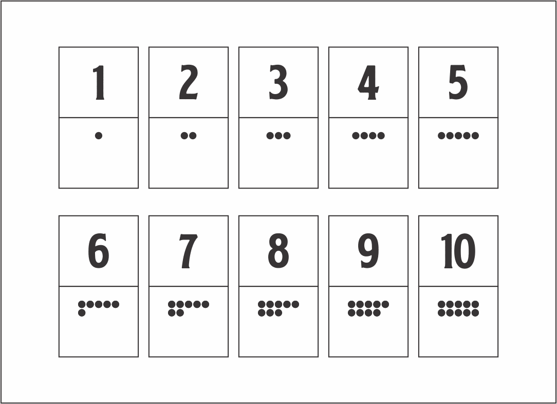 Printable Number Cards 1-20