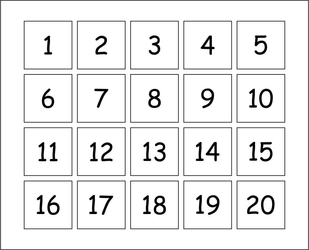 Crush image for printable numbers 1-10