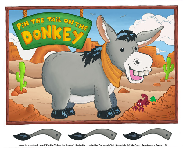 5 Images of Printable Pin The Tail On The Donkey Game