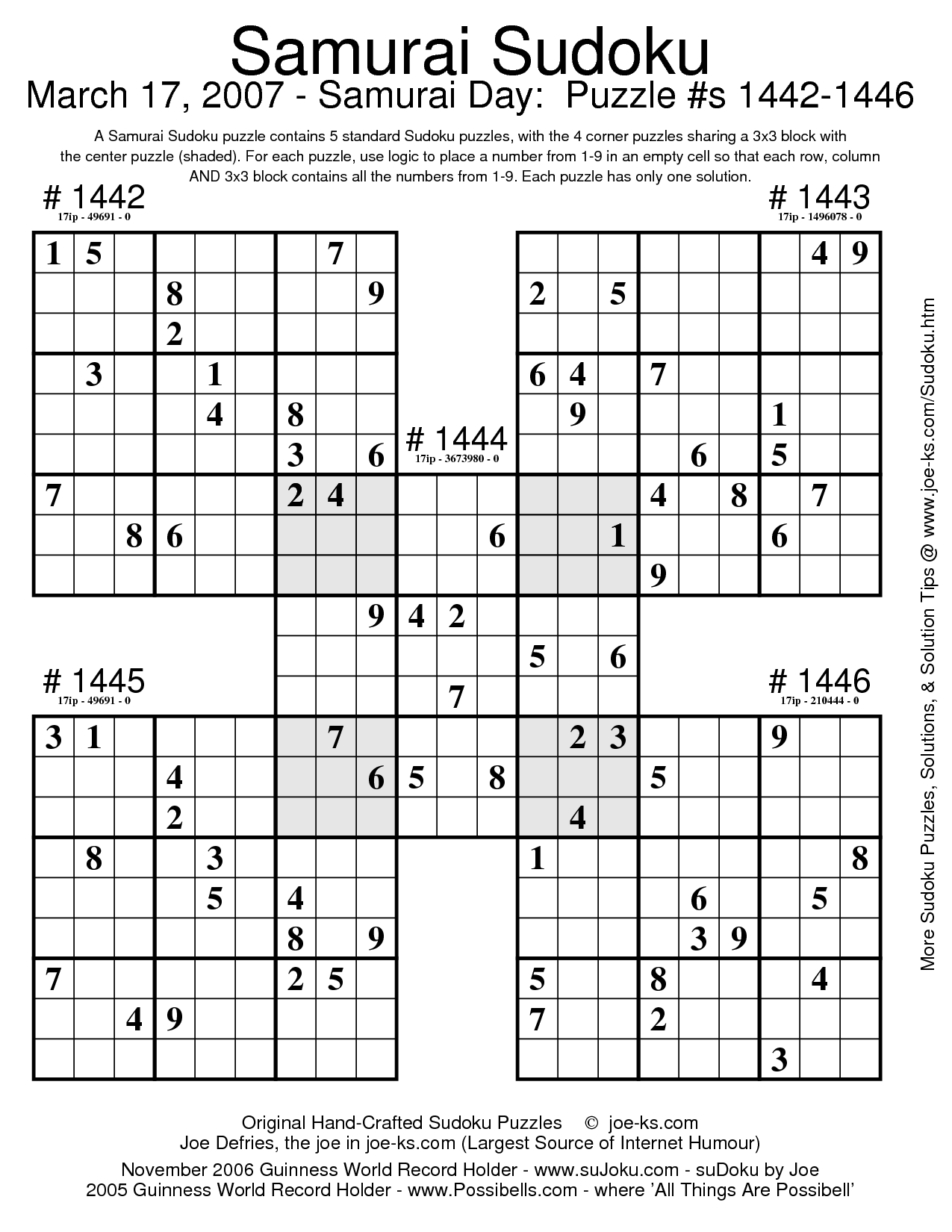 6 Images of Free Printable Sudoku Puzzle Book