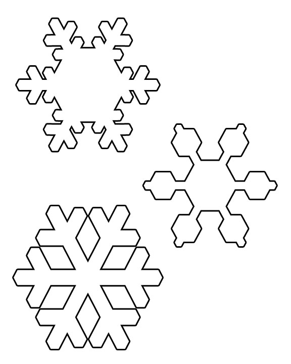 6 Images of Printable Snowflake Cut Outs