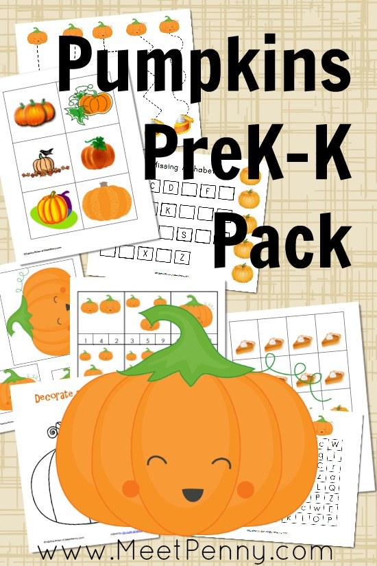 4 Images of Pumpkin Numbers Matching Game Printable