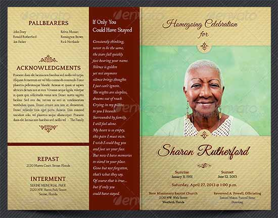 free obituary program template download - 9 best images of free printable funeral programs elegant