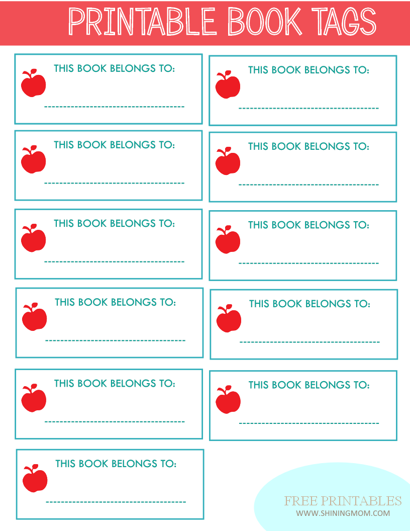 4 Images of Free Printable Book Labels For Kids