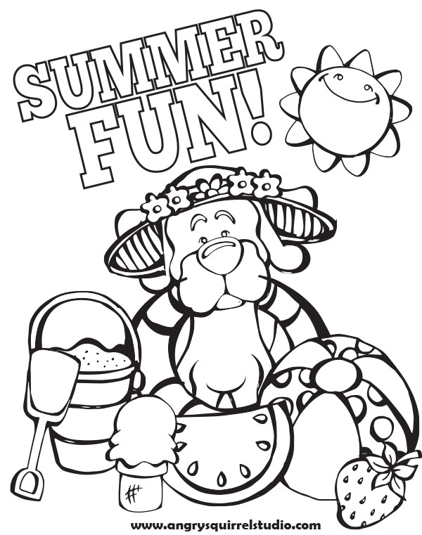 Summer Coloring Pages to Color