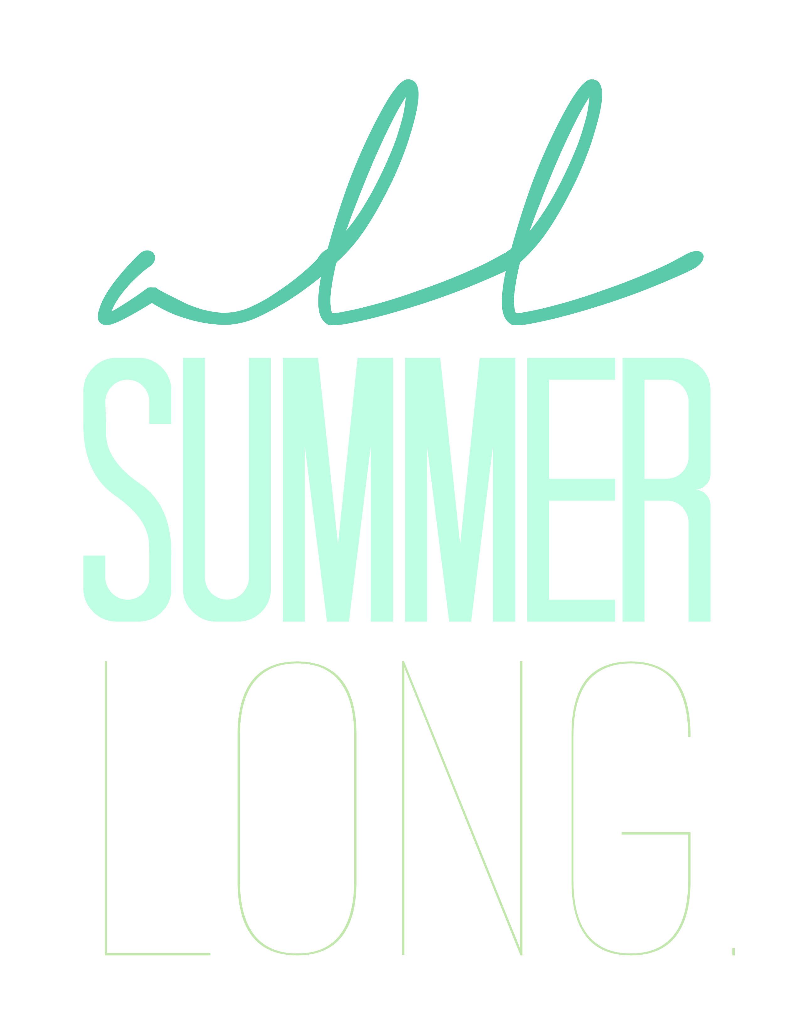 Summer Free Printables Wall Art