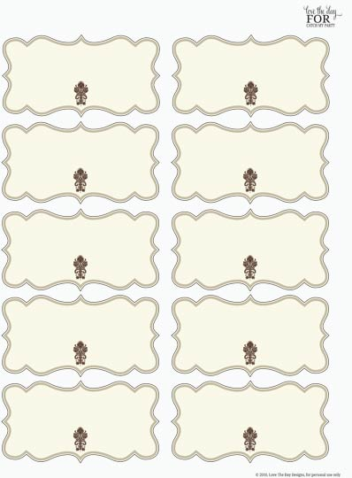 Thanksgiving Buffet Food Labels Printable Free