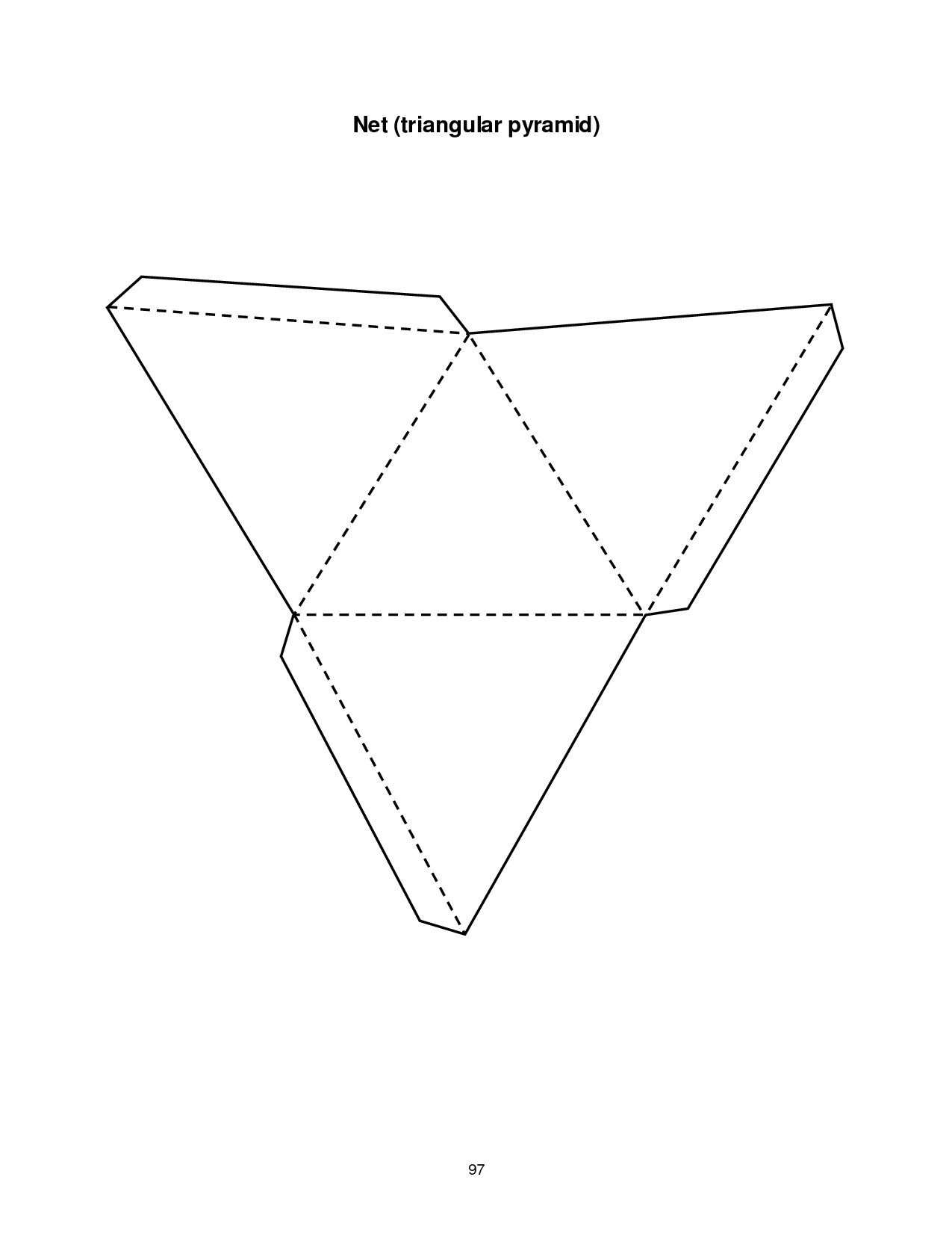 5 Images of Triangular Prism Template Printable