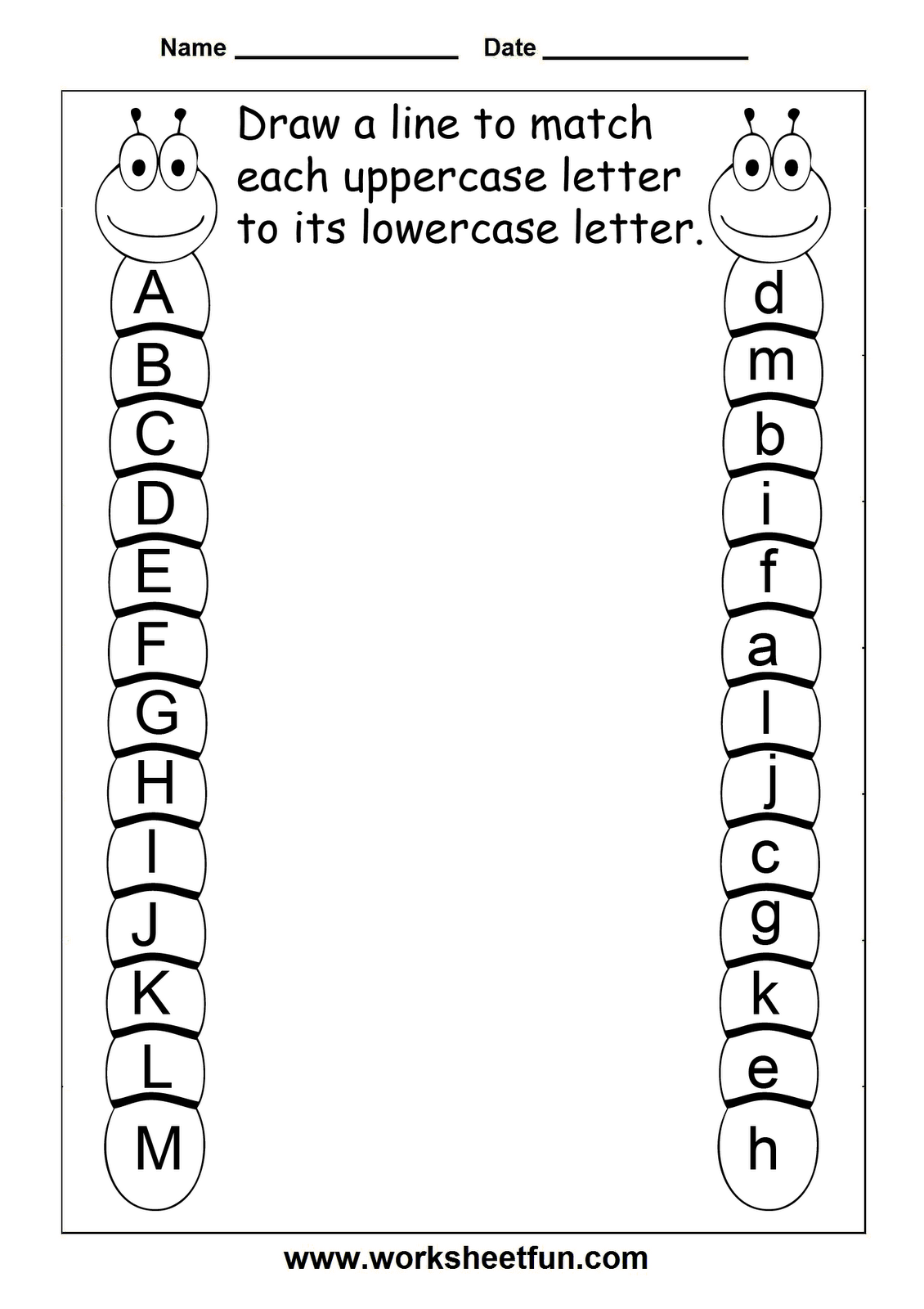 Printables Alphabet Recognition Worksheets 8 best images of free printable letter recognition sheets uppercase lowercase letters worksheet
