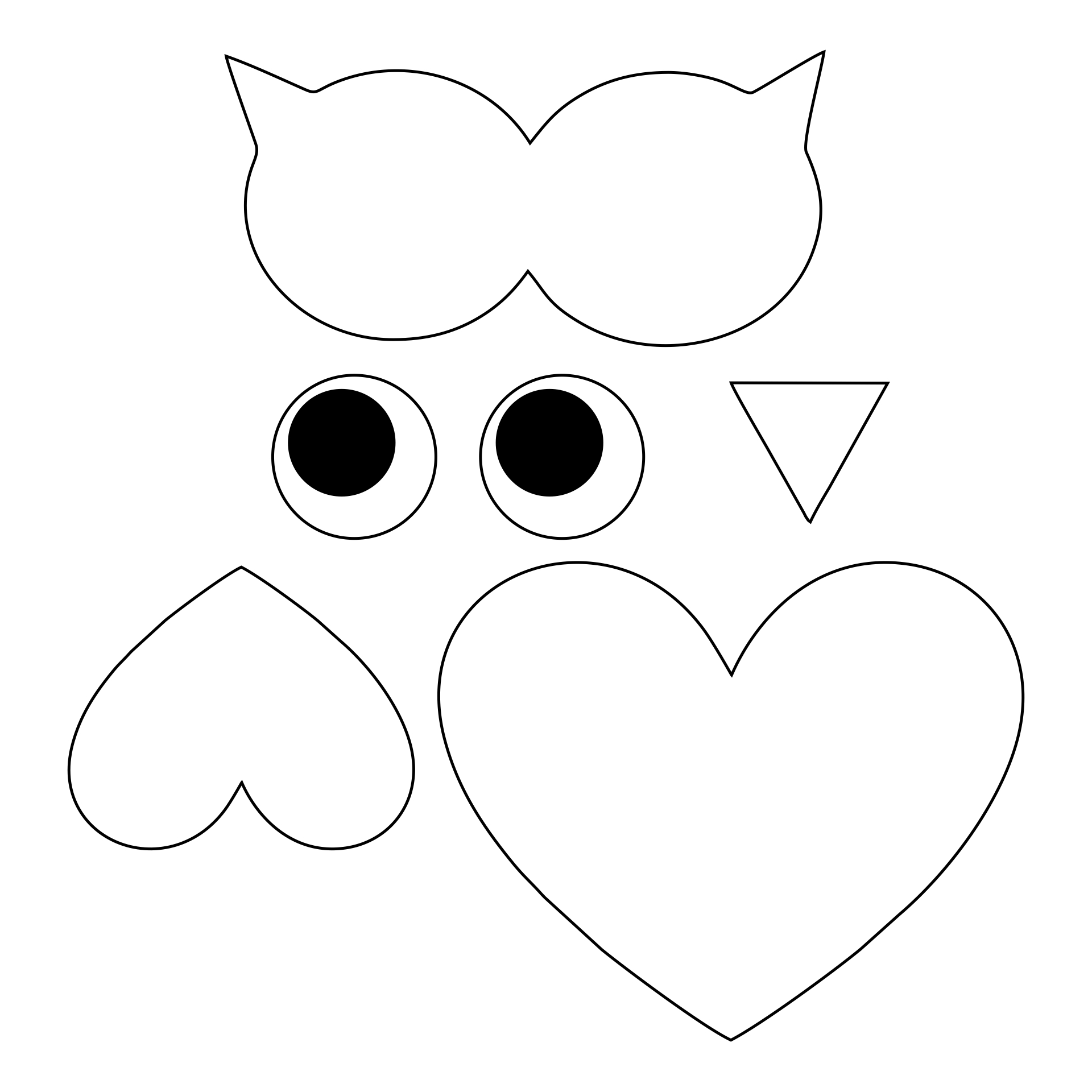 Valentine Owl Craft Pattern