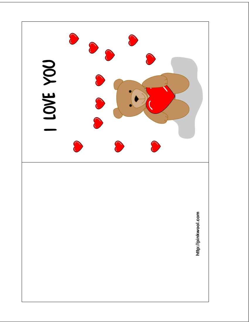 7 Images of Valentine's Day Card Templates Printable