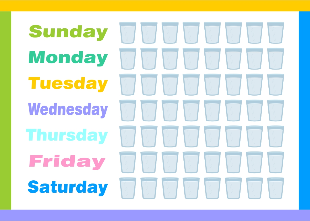 Water Intake Chart Printable