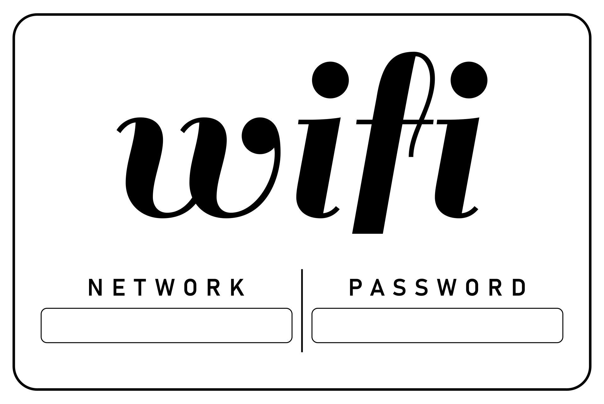 10 Best Guest Wifi Password Printable Printablee Com