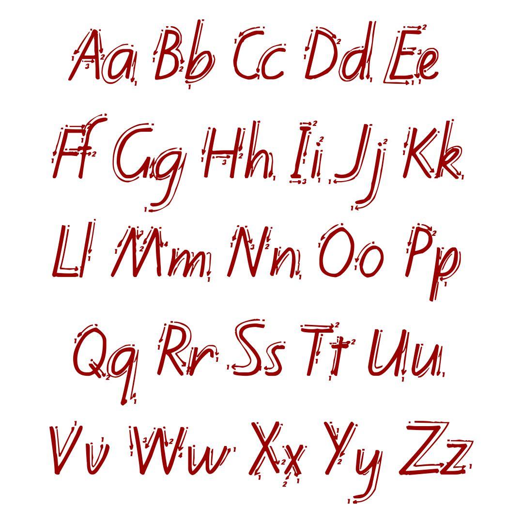 Zaner-Bloser Handwriting Template