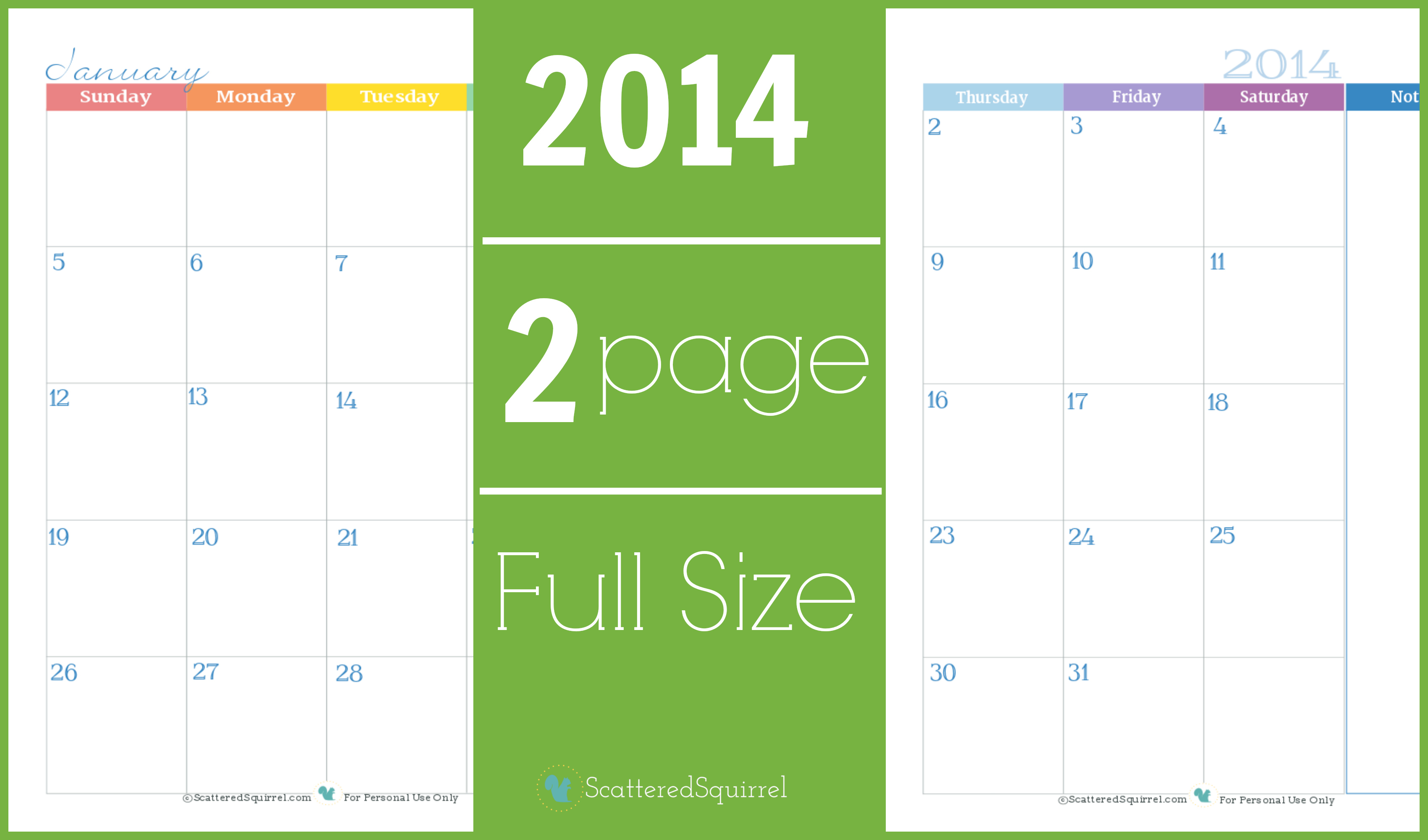 6 best images of 2 month per page full size calendar for 2 month calendar template 2014