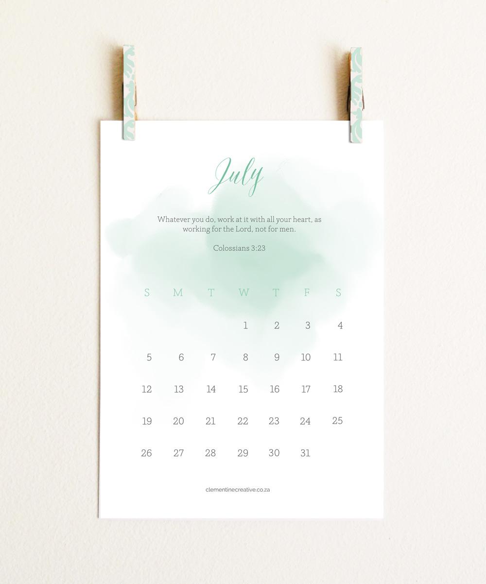 5 Images of Bible Free Printable 2015 Calendar