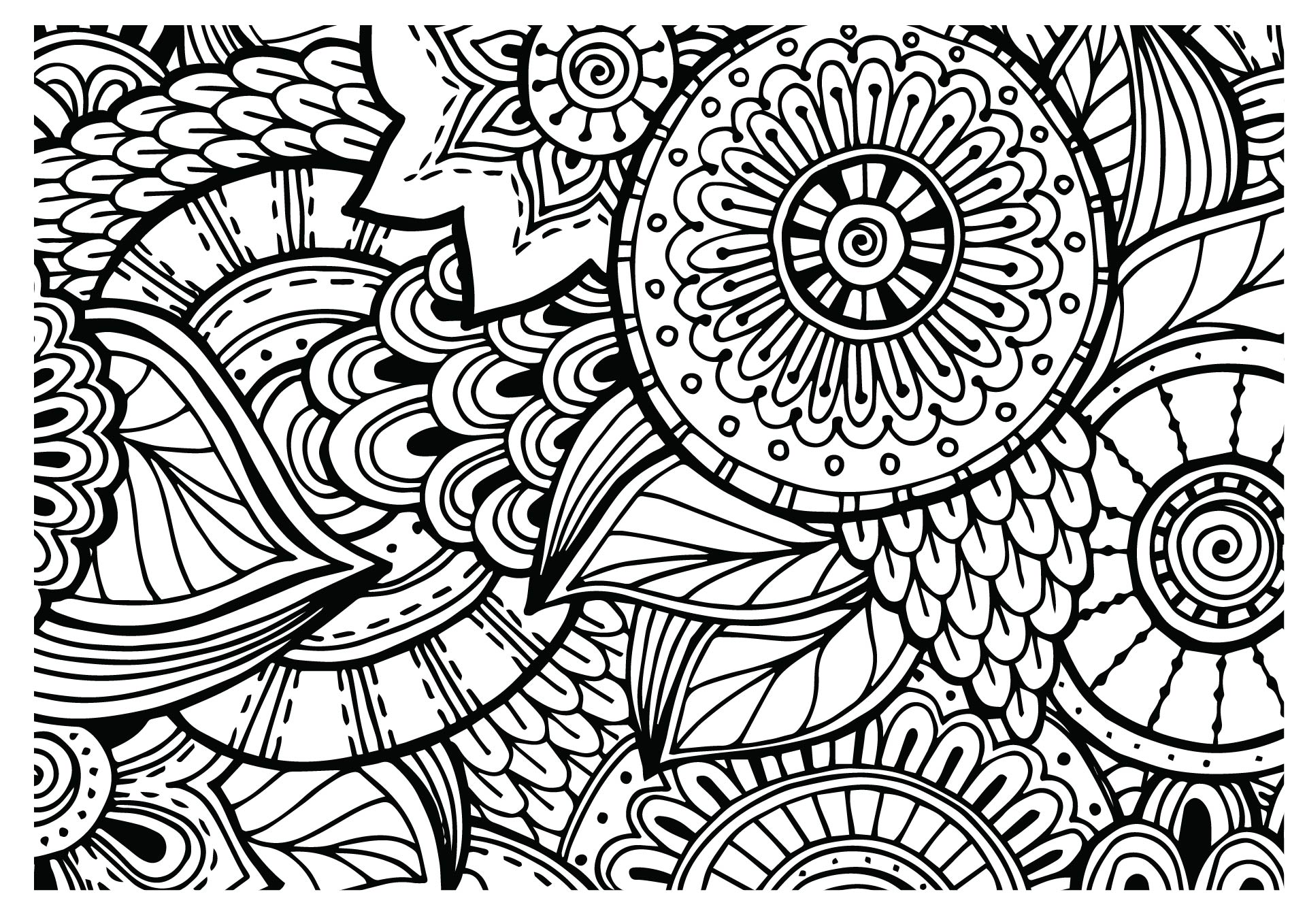 8 Best Images of Printable Coloring Pages Doodle Art ...
