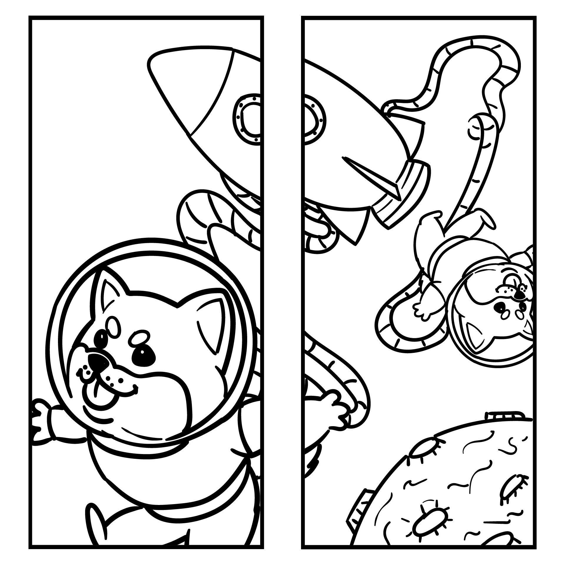 Animal Bookmark Coloring Pages
