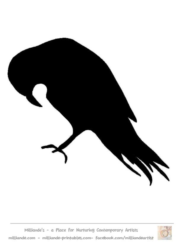 8 Images of Black Bird Stencil Printable Free