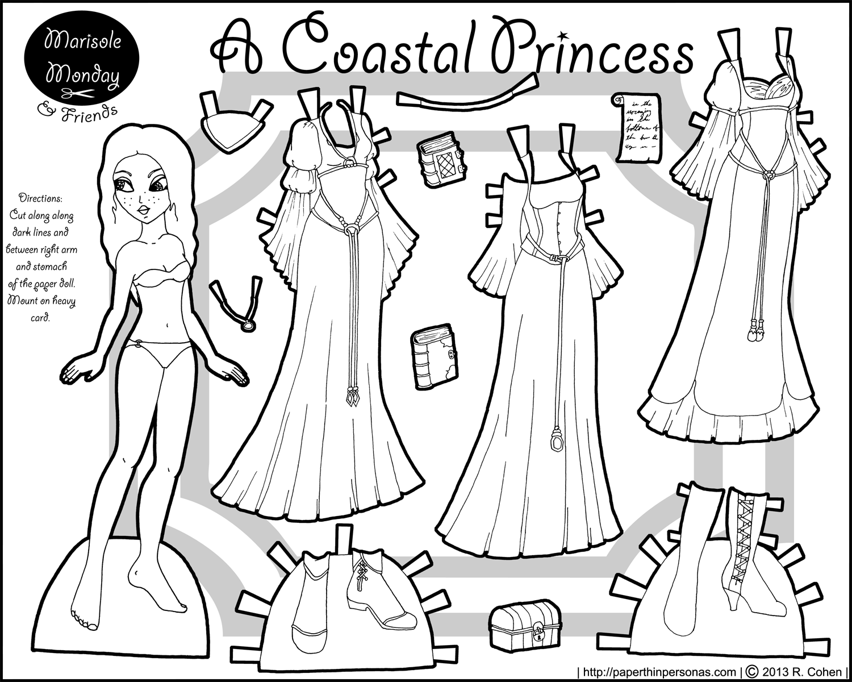 6 Best Images of Printable Princess Paper Dolls - Disney ...