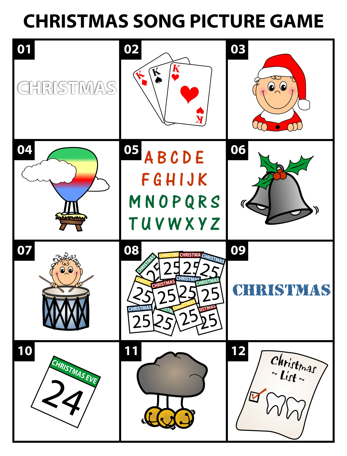 Brain Teaser Christmas Song Puzzle