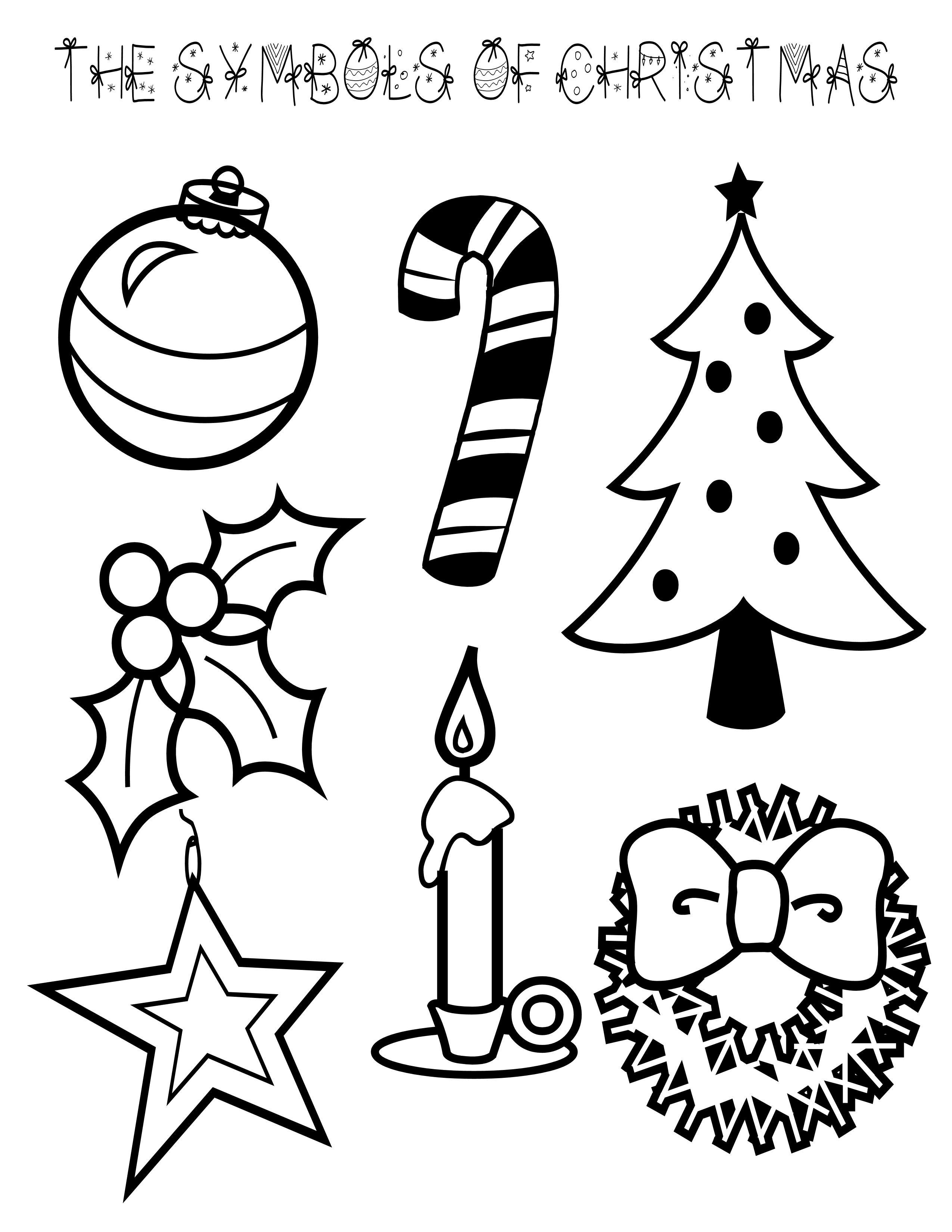 5 Images of Christian Symbols Of Christmas Printable