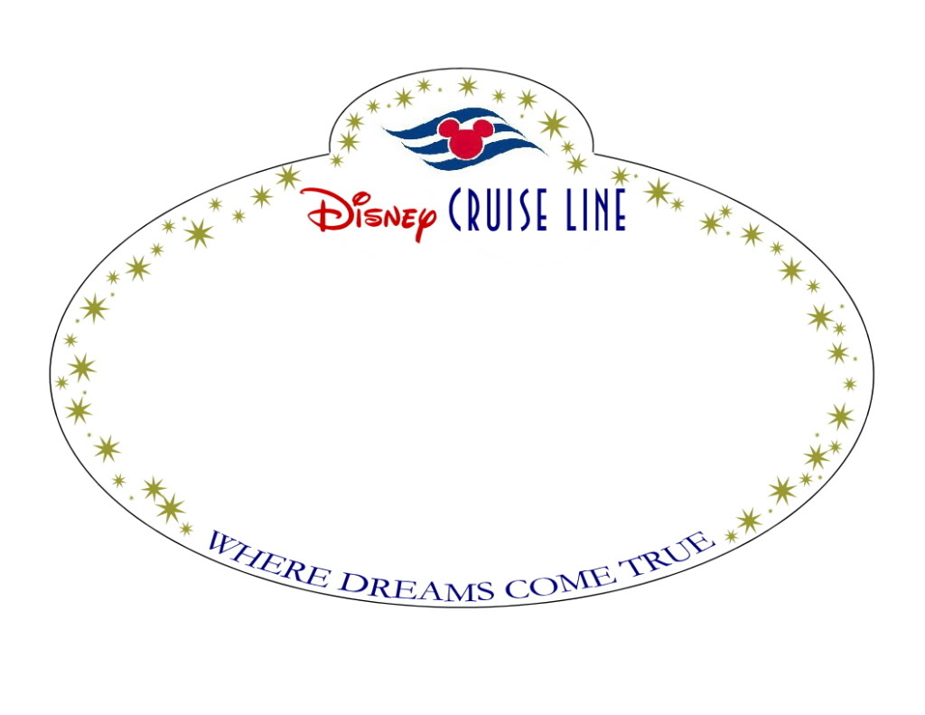 Disney cruise magnet printables joy studio design for Door name tag template
