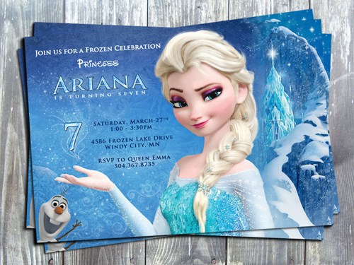 9 Best Images of Frozen Birthday Card Printable Template ...